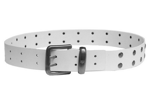 Lma Riot Leather Belt Белый