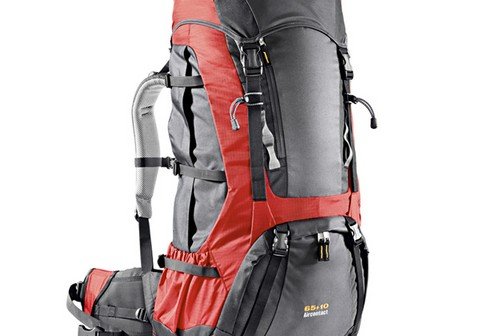 Deuter Aircontact 65 + 10 Anthracite-fire